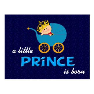 Un pequeño príncipe es postal nacida