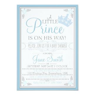 """Un pequeño príncipe Is On His Way Invitación 5"""" X 7"""""""