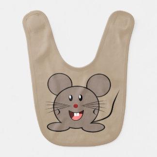 Un pequeño ratón lindo para el bebé - babero de bebé