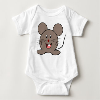 Un pequeño ratón lindo para el bebé - camisas