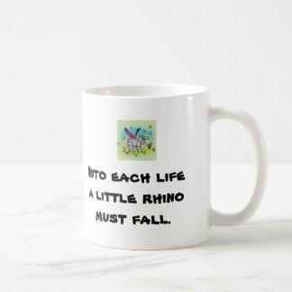 Un pequeño rinoceronte tazas de café
