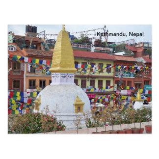 Un pequeño Stupa en Katmandu Postal