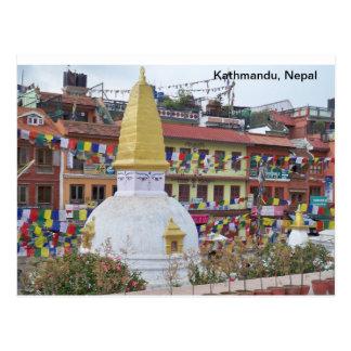 Un pequeño Stupa en Katmandu Tarjeta Postal