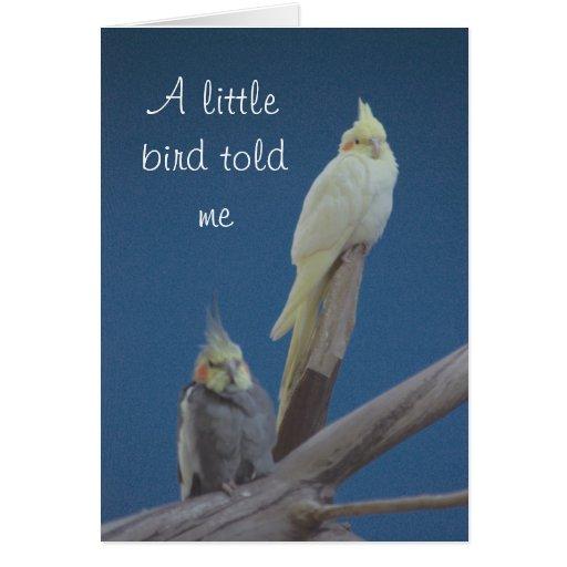 Un pequeño toldme del pájaro tarjeta de felicitación