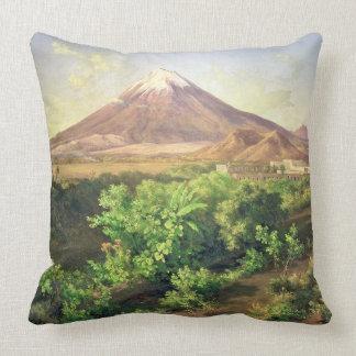 Un pequeño volcán en el campo mexicano, 1887 (acei almohada