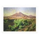 Un pequeño volcán en el campo mexicano, 1887 postal