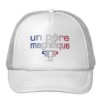 Un Père Magnifique France Flag Colors Trucker Hat