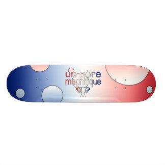 Un Père Magnifique France Flag Colors Pop Art Skate Board