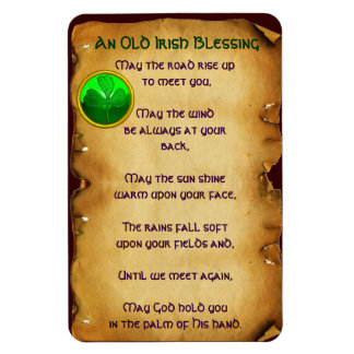 Un pergamino irlandés viejo de la bendición imanes flexibles