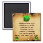 Un pergamino irlandés viejo de la bendición para l iman
