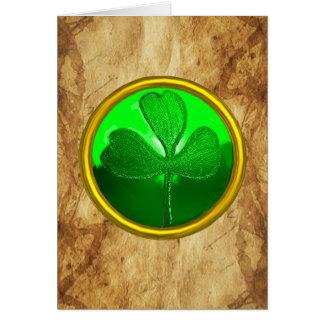 Un pergamino irlandés viejo de la bendición para tarjeta de felicitación
