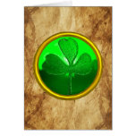Un pergamino irlandés viejo de la bendición felicitación