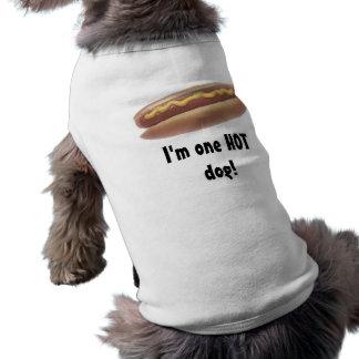 Un perrito caliente ropa de perro