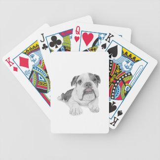 Un perrito descarado del dogo baraja de cartas bicycle