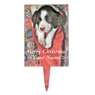 Un perrito para el navidad decoraciones de tartas