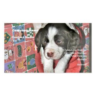 Un perrito para el navidad plantillas de tarjetas de visita