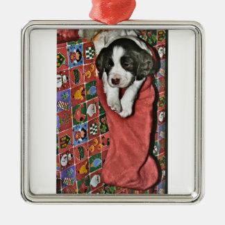 Un perrito para el ornamento del navidad adornos