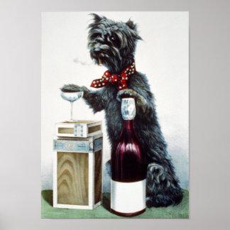 Un perro alegre póster