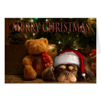 Un perro es para la vida no apenas para el navidad tarjetas