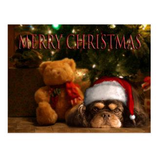 Un perro es para la vida no apenas para el navidad postales