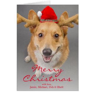 Un perro rojo y blanco del Corgi Galés del Tarjeta De Felicitación