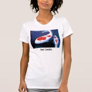 Un pescado, camiseta de dos pescados playera