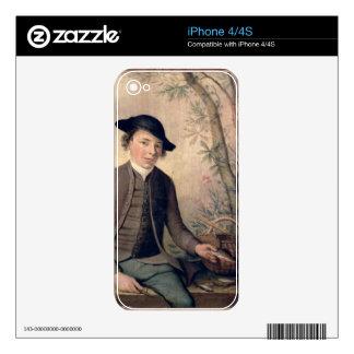 Un pescado de destripamiento del hombre joven, 178 calcomanías para el iPhone 4S