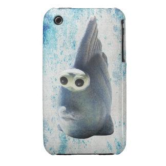 Un pescado divertido lindo con los ojos grandes Case-Mate iPhone 3 cárcasa