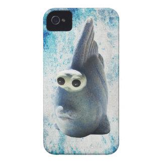 Un pescado divertido lindo con los ojos grandes iPhone 4 cobertura