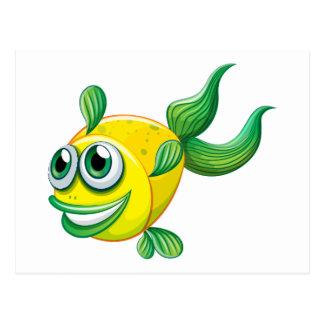Un pescado feo tarjeta postal