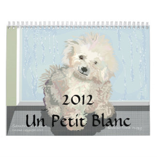 Un Petit Blanc Wall Calendar