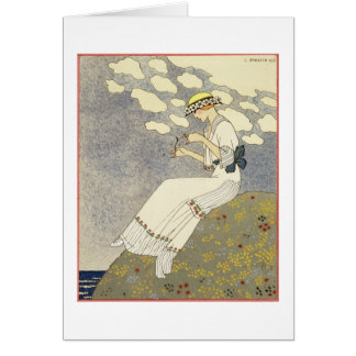 Un Peu..., design for a country dress by Paquin, 1 Card