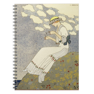 Un Peu..., design for a country dress by Paquin, 1 Spiral Notebook