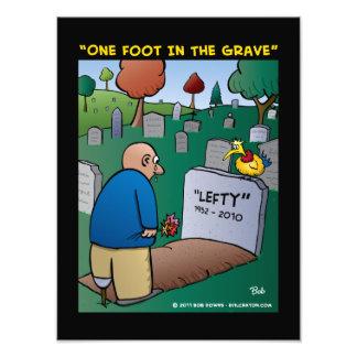 """""""Un pie en el grave """" Fotografía"""