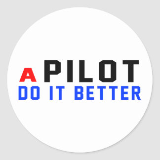Un piloto mejora pegatina redonda