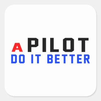 Un piloto mejora pegatina cuadrada