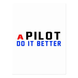 Un piloto mejora postales