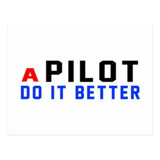 Un piloto mejora tarjeta postal