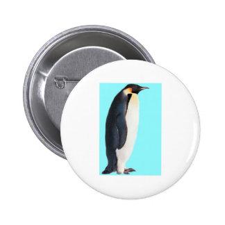 ¡Un pingüino en azul!  ¡Un regalo de la diversión  Pin Redondo 5 Cm