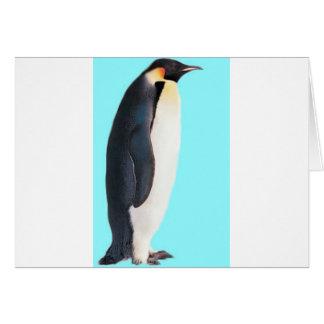 ¡Un pingüino en azul!  ¡Un regalo de la diversión  Tarjeta De Felicitación
