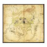 Un plan de Boston y del mapa de la vecindad (1775) Impresión En Lona