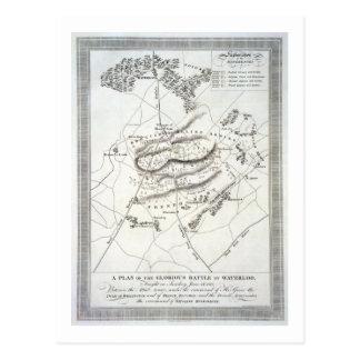 Un plan de la batalla de Waterloo gloriosa (engrav Tarjeta Postal