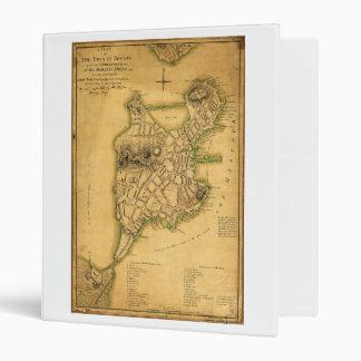 """Un plan de la ciudad del mapa de Boston (1775) Carpeta 1"""""""