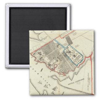 Un plan de la propiedad del Hampton normal Imán Cuadrado