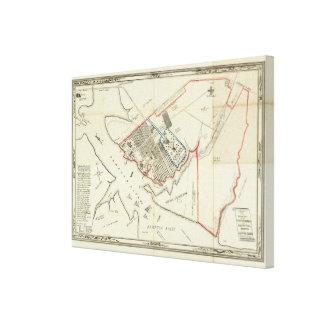 Un plan de la propiedad del Hampton normal Impresión En Lienzo