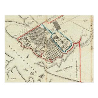Un plan de la propiedad del Hampton normal Postal