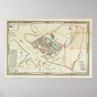 Un plan de la propiedad del Hampton normal Póster