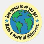 Un planeta es todo lo que usted consigue pegatina