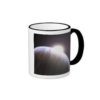 Un planeta extrasolar con su estrella del padre tazas
