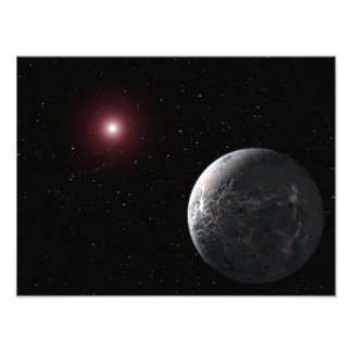Un planeta helado/rocoso que está en órbita una fotografías